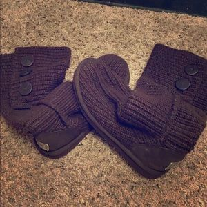 UGG brown sweater boots 👢